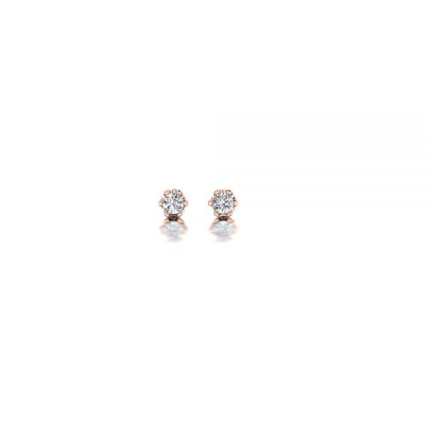 Rose gold diamond stud earrings 0,05ct