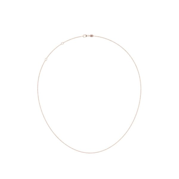 Simple chain necklace 14k rose gold