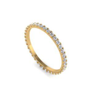 Geelgouden alliance ring volledig rondom gezet