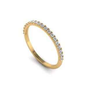 Geelgouden half alliance ring