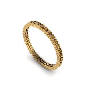 Yellow gold four-leaf clover ring