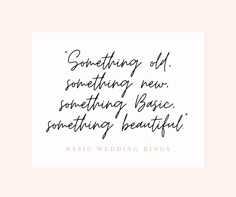 Something old something new Basic Wedding Rings homepage