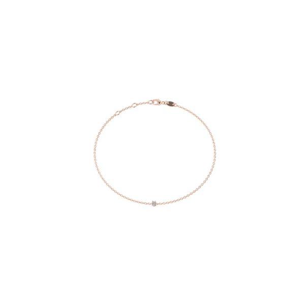 Rose gold diamond bracelet large